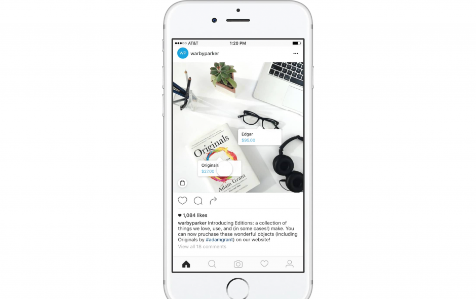Instagram: Integriertes Shopping für Product Placement