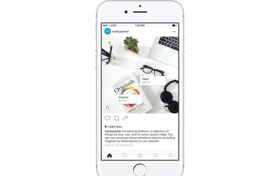 Instagram: Integriertes Shopping für Product Placement