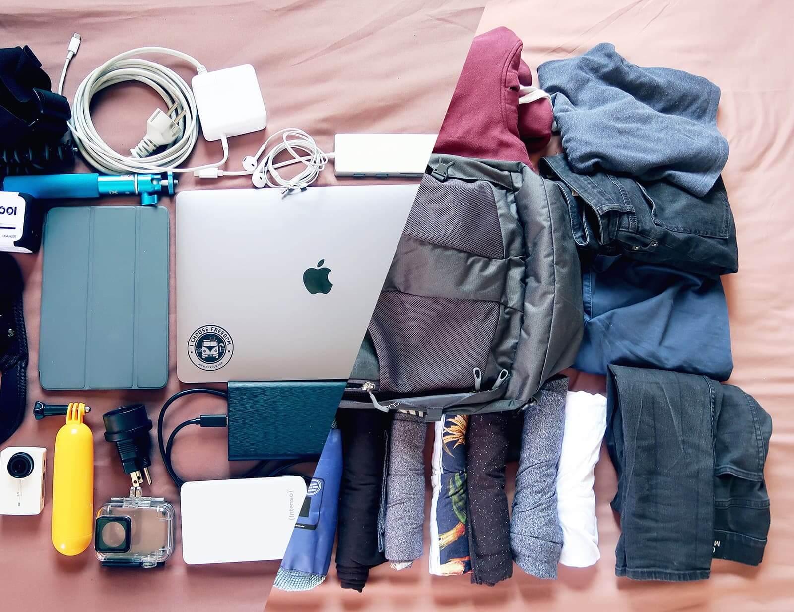 Meine Handgepäck Packliste als Reisevlogger