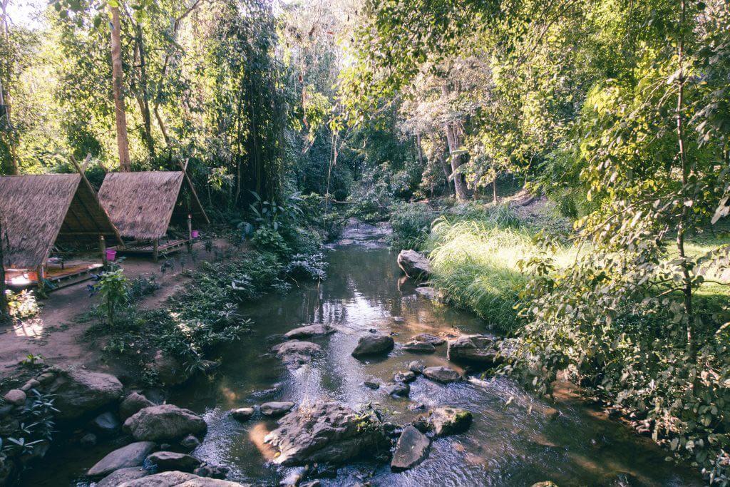 Mae Sa Wasserfall Hütten